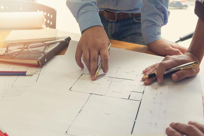 Renovation blueprints